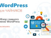 Обзор главного меню WordPress