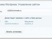 Выбор домена для установки