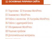 Результат добавления меню в сайдбар