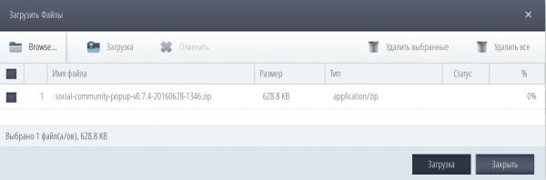 Результат загрузки файла на хостинг