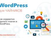 Как корректно удалить плагин в WordPress
